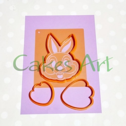 Набор вырубок для пряников: Кролик 3д