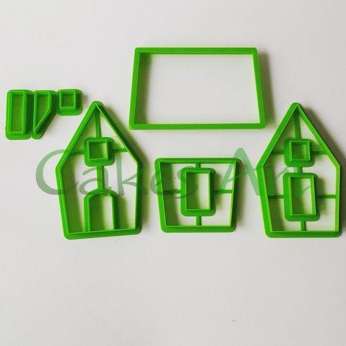 Набор форм для пряников  : 3д Пряничный домик № 002