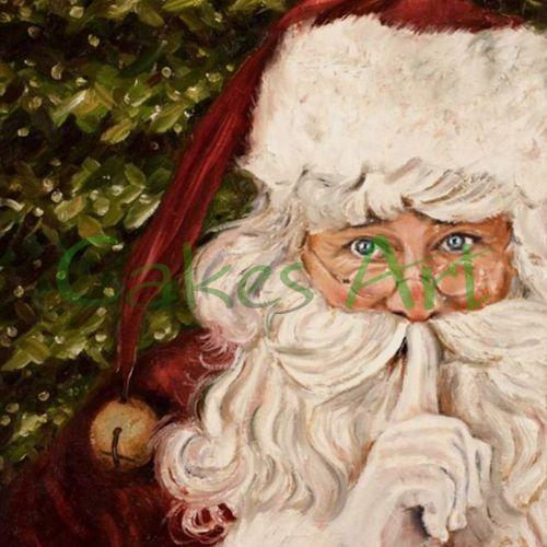 Набор для пряников вырубка + трафарет: Санта Клаус открытка 003