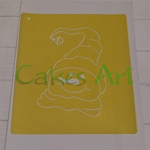 Трафарет для торта и пряников:  Снеговик открытка 001