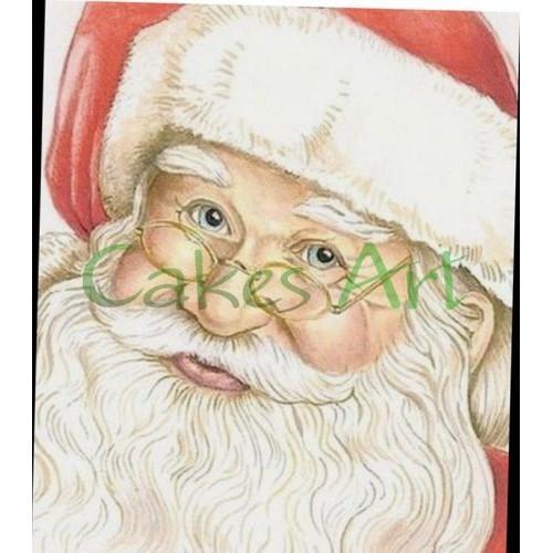 Набор для пряников вырубка + трафарет: Санта Клаус открытка 004