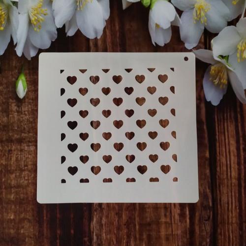 Трафарет для торта и пряников: Сердца малые 002