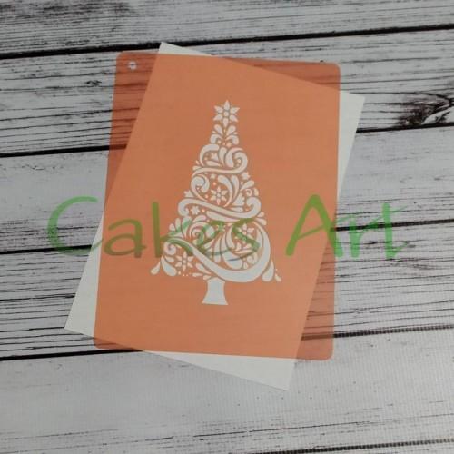 Трафарет для торта и пряников:  Елочка 003