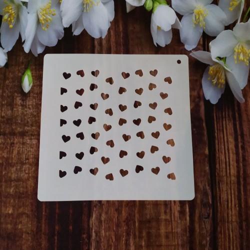 Трафарет для торта и пряников: Сердца малые 001