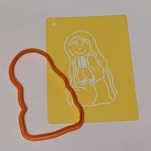 Набор для пряников вырубка + трафарет: Шопка Дева Мария